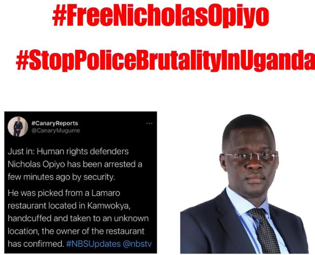 Human Rights Violation – Unlawful Arrest and Detention: Nicholas Opiyo –  Freedom Uganda